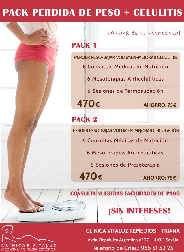 pack perdida de pesa más celulitis
